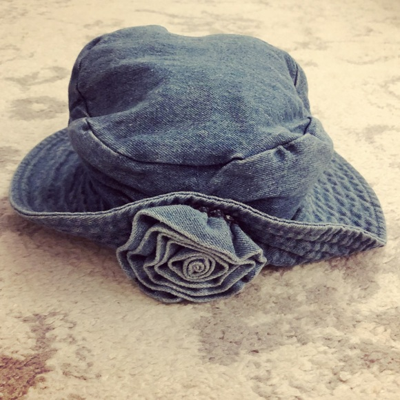 6f1c371635cb9 Arlin Accessories - Vintage Arlin denim jean bucket hat with flower